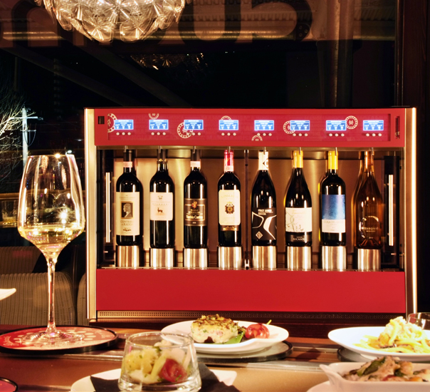 dispenser vino Wineemotion per ristorante